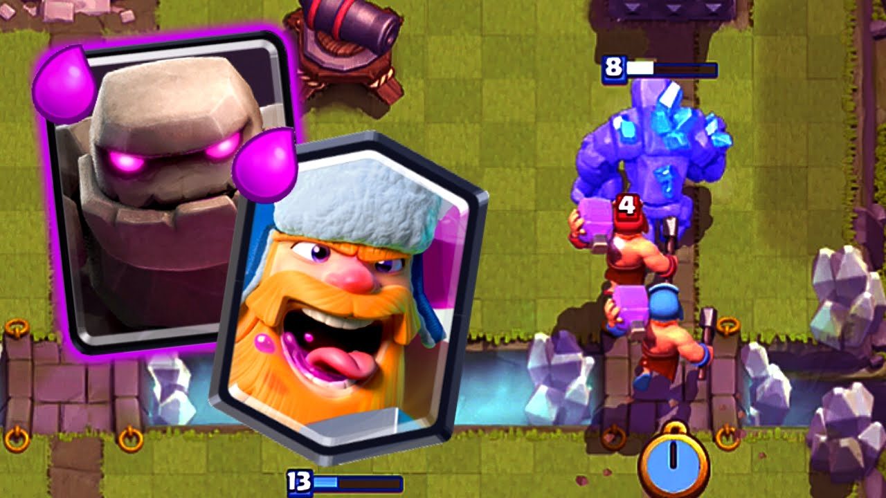 Clash Royale Golem Lumberjack Deck For Arena 8 Easy 3 Crowns