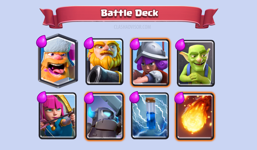 Royal Giant Lumberjack Deck