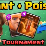 Clash Royale Giant Poison Deck Arena 8+ | Giant Ice Wizard Deck