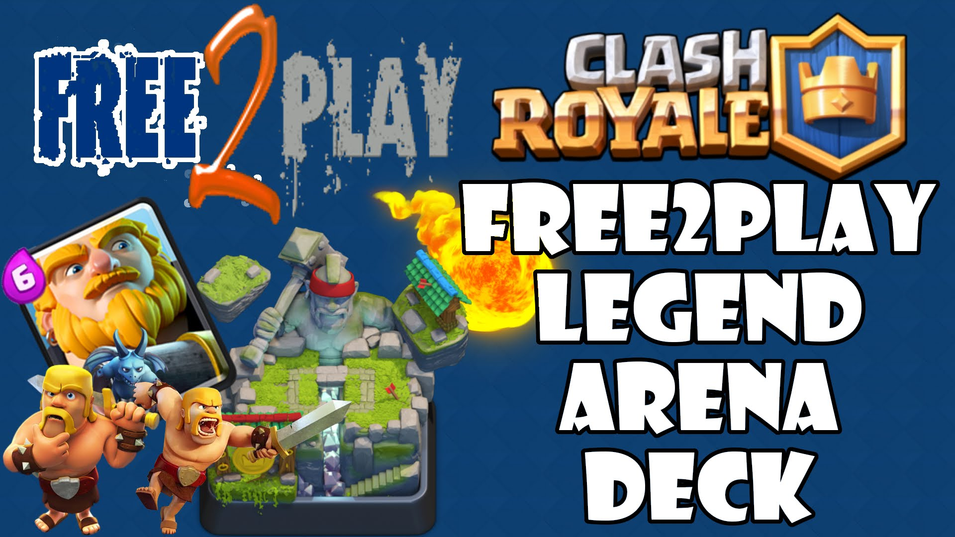 clash royale top 3 f2p best deck push to arena 9