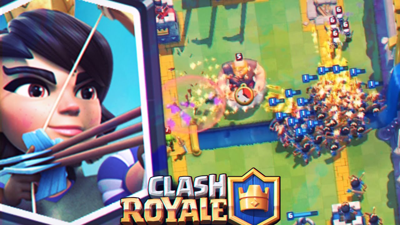 Clash Royale Princess Lumberjack Deck For Arena 7