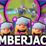 Clash Royale-Lumberjack Hog Decimation Deck Arena 8+