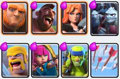 Clash Royale Arena 4 Challenge Deck