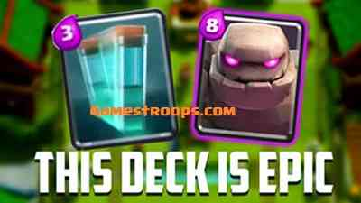 Clash Royale Golem Clone Spell Deck Push To Arena 9