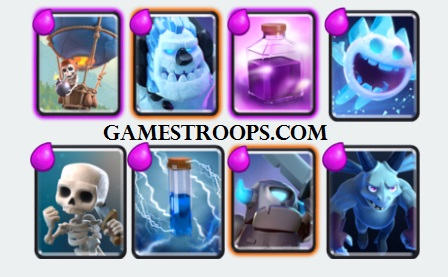 Clash Royale F2P Deck Balloon Rage Deck