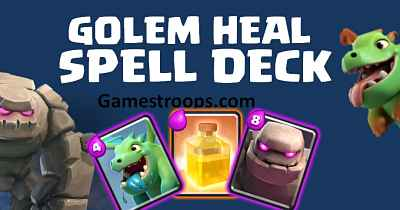 Baby Dragon Golem Heal Spell Deck
