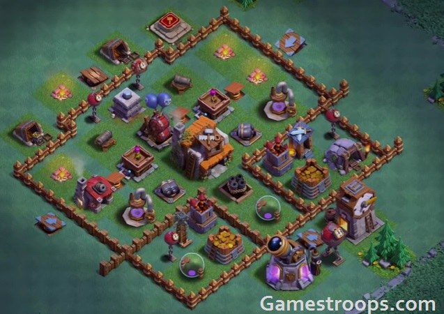 Builder Hall 5 Base bh5 base coc