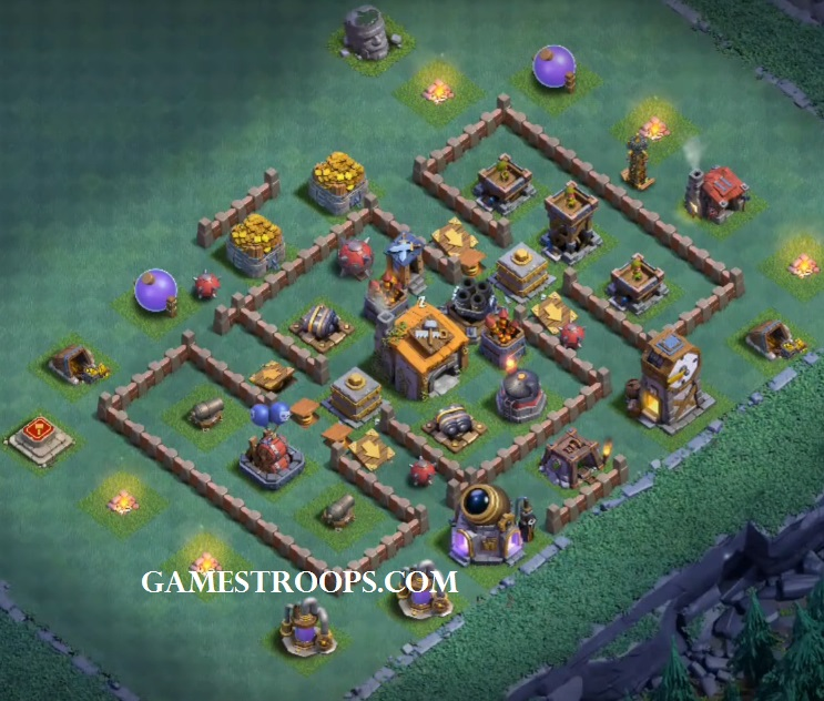 Clash Of Clans Builder Hall 6 Base New Bh6 Defence Base Coc