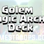 Clash Royale Prince Golem Magic Archer Deck Arena 11+ 2018 Deck