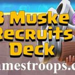 Clash Royale Three Musketeers Royal Recruits Deck | Bandit Recruits Deck