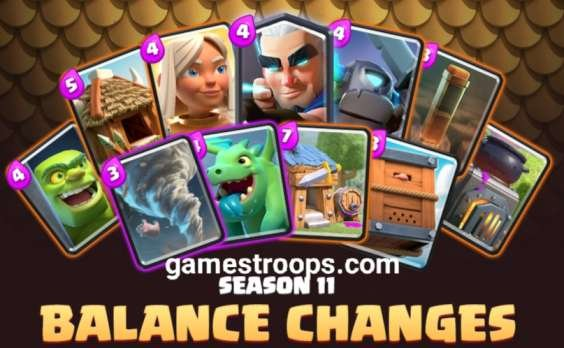 season 11 balance chances Clash Royale 2020